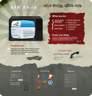 web design sample - Mkatek