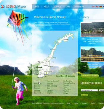 web design sample - Scenic Norway